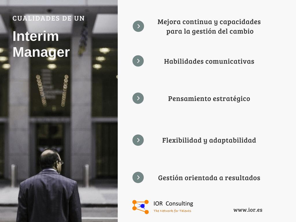 cualidades interim manager