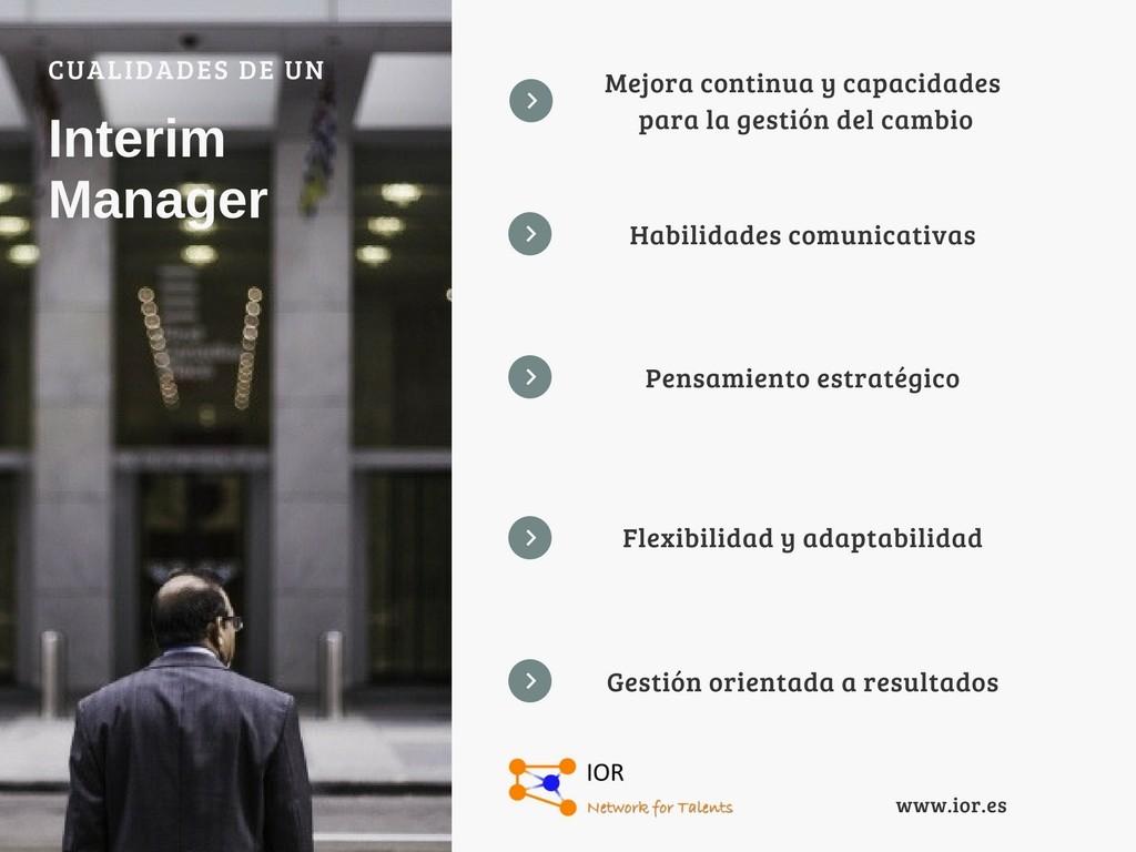 interim manager cualidades
