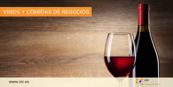 vinos y comidas de negocios