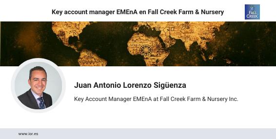 Juan Antonio Lorenzo, key account manager Emena en Fall Creek Farm & Nursery