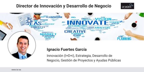 Ignacio Fuertes, director de innovación y de desarrollo de negocio en Prades I+D