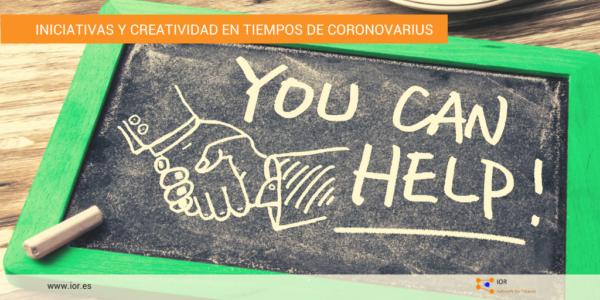 Iniciativas tiempo de coronavirus